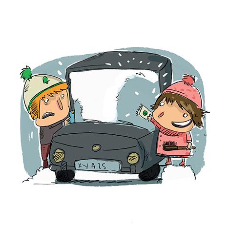 degivrer voiture neige hiver