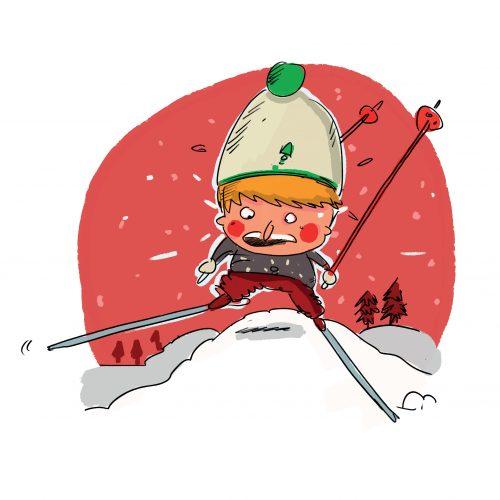 ski neige skieur