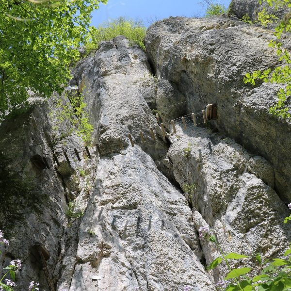 via ferrata echelles de la mort vallée suisse pays horloger doubs jura