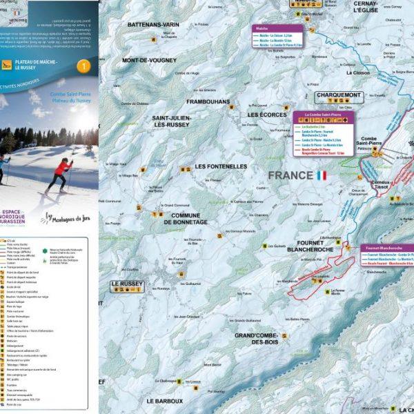 plan pistes ski de fond maich combe saint pierre pays horloger doubs jura
