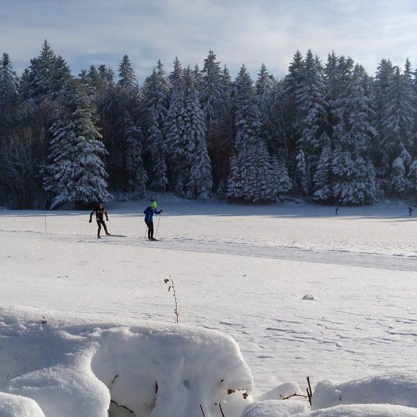 ski de fond neige la montée damprichard pays horloger doubs jura