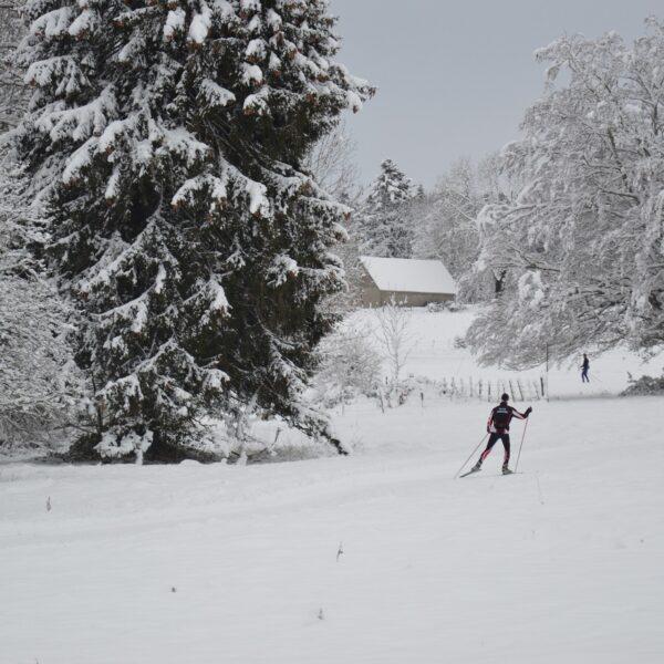 ski de fond la bosse le memont le russey pays horloger hiver neige jura
