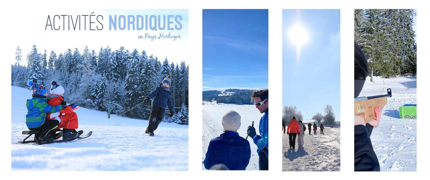 activités nordiques pendant les vacances d'hiver pays horloger haut doubs jura