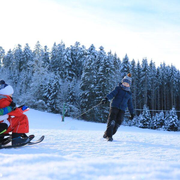 luge hiver neige activités nordiques pays horloger jaut doubs jura