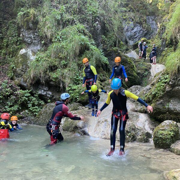 activités avec l'eau canyon les chaudières les gras sportifs eau pays horloger jura