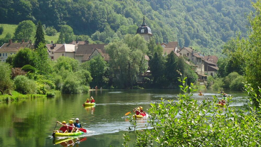 canoe saint-hippolyte doubs accompagné activité famille pays horloger jura